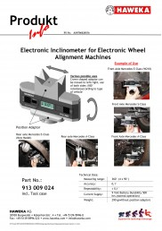 Inclinometer for electronic Wheel Alignment Systems