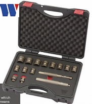 WELZH WERKZEUG UNIVERSAL LOCKING WHEEL NUT REMOVAL KIT