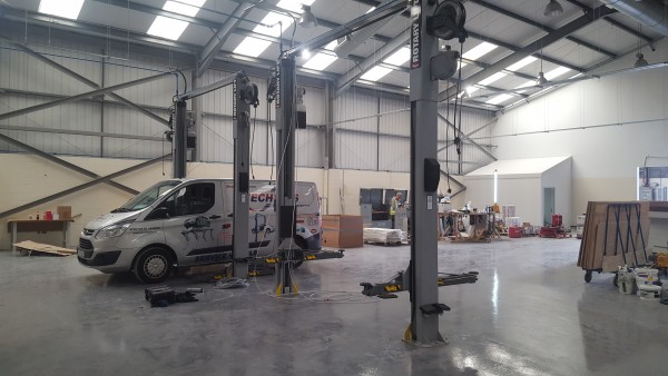 Rotary Lifts Installed for Tesla Ireland