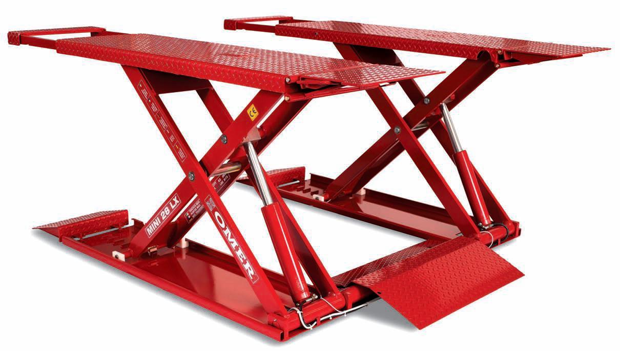 Omer mini 2 8t scissor lift for Car lift plans